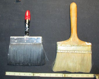 2 X LARGE Vintage Paint Brushes / 7 inches wide