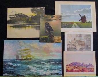 Collection of 6 Vintage Art Prints