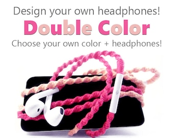 Design Your Own Headphones - iPhone 8 Lightning Earpods, Android Samsung Earphones - Choose Your Own Colors & Earbuds - Custom Tangle Free