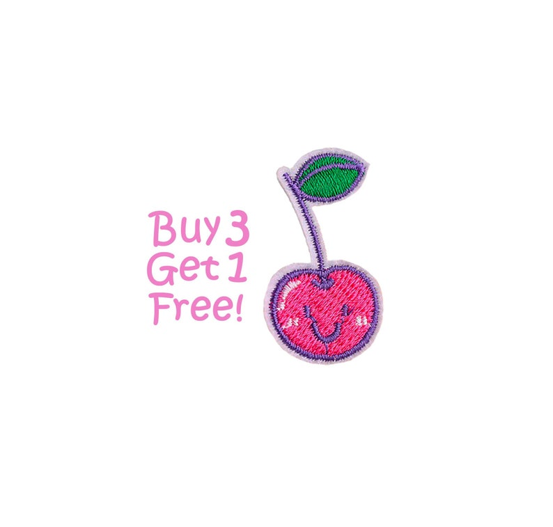 small cherry Embroidered Sew On Iron On clothes Sticker badge girls bag patch