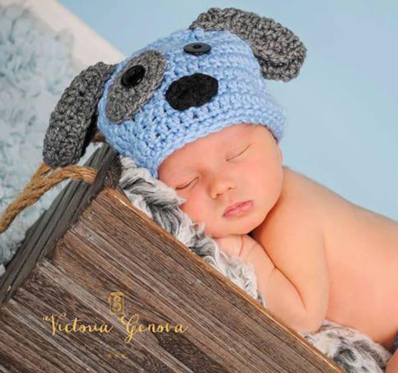 005561f3e Crochet boy Puppy hat photography prop infant boy hat photo | Etsy