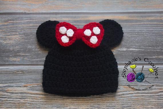 Häkeln Sie Babymädchen Minnie Maus Hut Minnie Maus Minnie Etsy
