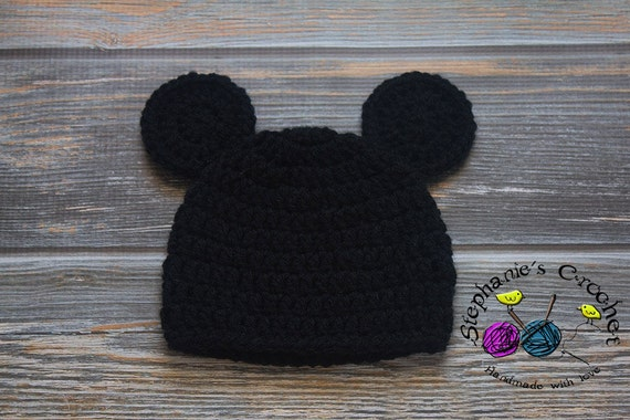 Crochet Baby Boy Mickey Mouse Hat Mickey Mickey Hat Mouse Etsy