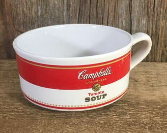 Vintage Campbell's Tomato soup bowls, campbells soup, vintage tomato soup bowls, vintage kitchen, retro kitchen, campbells collector