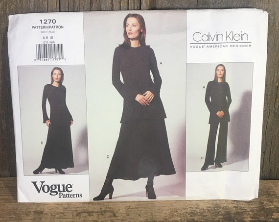 Vintage Calvin Klein Vogue pattern uncut, Butterick 1270, Vogue patterns 1270, Calvin Klein pattern from 1993, Calvin Klein 1990's outfit