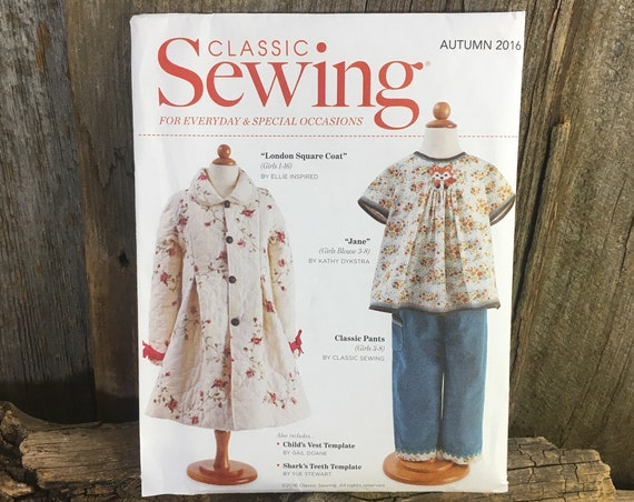 Classic Sewing pattern from 2016, Riley Blake designs, little girls sewing pattern, London Square Coat, Classic pants, vest, Kathy Dykstra
