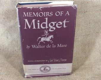 Vintage Memoirs of a Midget by Walter de la Mare copyright 1941, vintage books, surrealistic novel,