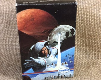 Super collectible vintage Spaceshots Moon Mars 36 card special, 1991 Space ventures, The astronauts memorial, face on mars, Apollo