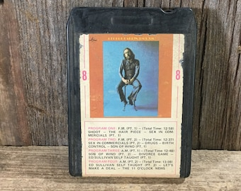 Vintage 8 track tape George Carlin FM and AM, 1972 George Carlin eight track, son of wino, the hair piece, vintage George Carlin