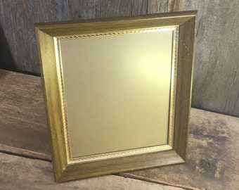 Vintage from the mid century wood and gold 8x10 picture frame, vintage desk top frame vintage hanging picture frame, acrylic photo frame