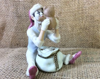 Vintage limited edition Hallmark Christmas Time Mime, Mime fans, Keepsake ornaments, collectors of mimes, mime gift, gifts for your mime