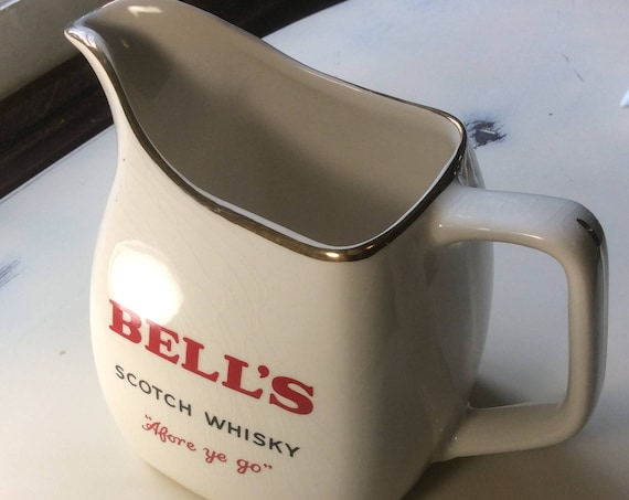 Vintage Bells scotch whisky decanter, Bells scotch whisky pitcher, whiskey pitcher,