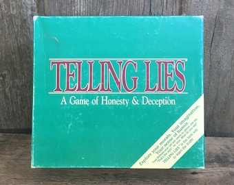 Telling Lies, vintage game of Telling Lies, 1986 game of honesty and deception, vintage game, vintage game night, explore your morals