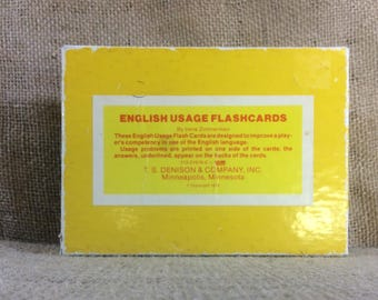 Vintage English usage flashcards, learn how to use proper English,