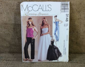 McCalls 3146, evening elegance sewing patter, uncut sewing pattern 2001, sexy evening wear to sew, sew your own wardrobe,