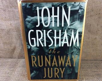 The Runaway Jury by John Grisham, First Edition John Grisham book, The Runaway Jury first edition, vintage first edition book, book gift