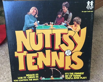Nuttsy Tennis game, very unique table tennis game, tennis collector, tennis fan must have, tennis player gift, 1974 Nutsy tennis game