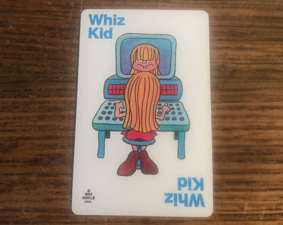 Old Maid card replacement from 1985 Hoyle deck, Whiz Kid, replacement Old Maid cards, complete your Old Maid deck, Nothings New Here