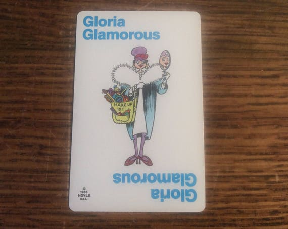 Old Maid card replacement from 1985 Hoyle deck, Gloria Glamorous, replacement Old Maid cards, complete your Old Maid deck, Nothings New Here
