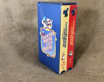 The Country Mouse and the City Mouse adventures double pack of VHS movies, Readers Digest Young Families movies, mice adventures, VHS tapes
