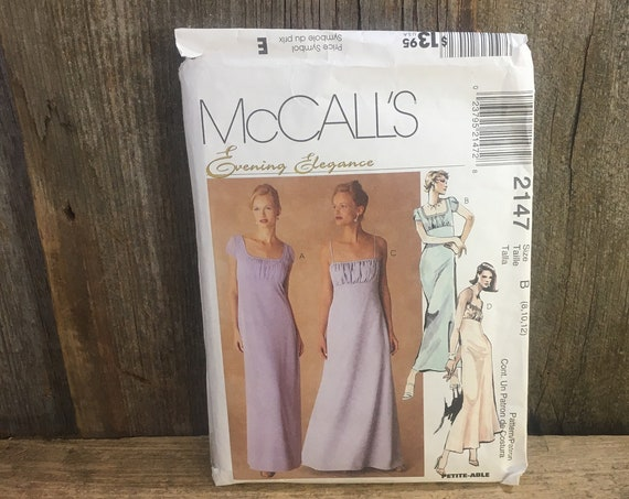 McCalls 2147 Evening Elegance sewing pattern, 1999 beautiful gown, McCalls evening gown sewing pattern, classy sewing pattern, 1990's gown