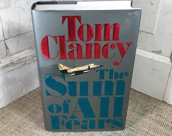 Tom Clancy's The Sum of All Fears, First Edition Tom Clancy book, ISBN 0399136150, vintage book from Tom Clancy, First edition books