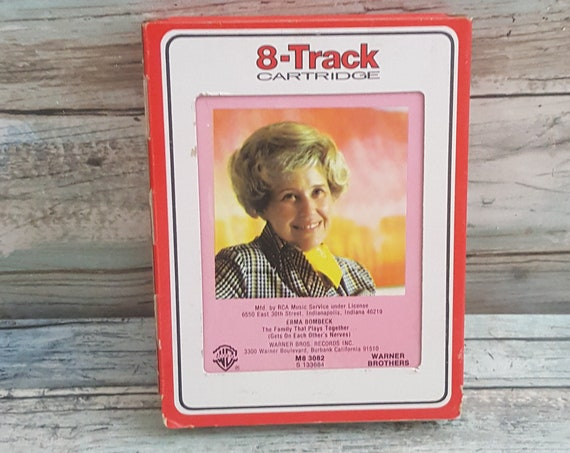 Erma Bombeck 8 track tape, Erma Bombeck The Family That Plays Together, vintage Erma Bombeck tape, 8 track tape from Erma Bombeck
