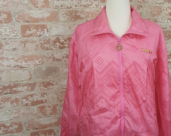 Vintage Ellesse windbreaker, vintage pink Ellesse windbreaker,pink windbreaker,pink jacket, size m/l windbreaker,90's style pink windbreaker