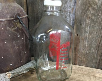 Vintage milk bottle, Watts Hardy milk bottle, Boulder Colorado memorabilia, vintage bottle, glass milk jug, vintage milk jug decor