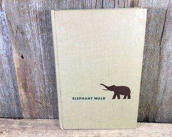 Vintage book , Elephant Walk a Novel by Robert Standish, First American Edition 1949, vintage novel, vintage first edition, vintage library