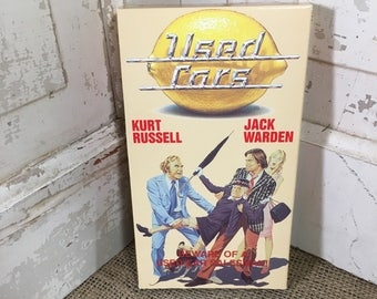 Vintage VHS movie Used Cars with Kurt Russell from 1989, vintage movies, vcr movies, vintage Kurt Russell, cult classic movie