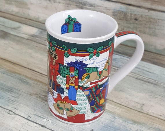Fire Works Designs Limited Edition Christmas Mug 1996, Limited Edition Christmas mug, Christmas cup, replacement mug