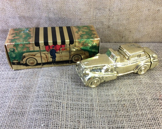 Vintage Avon Solid Gold Cadillac Wild Country after shave, Vintage Avon decor, Avon collection, repaint for craft project, car collector