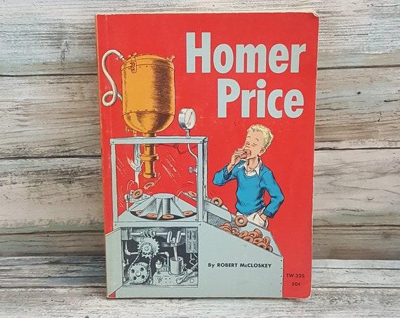 Homer Price, vintage children's book Homer Price, Robert McCloskey book, vintage Homer Price, Scholastic book, 1960's childrens book