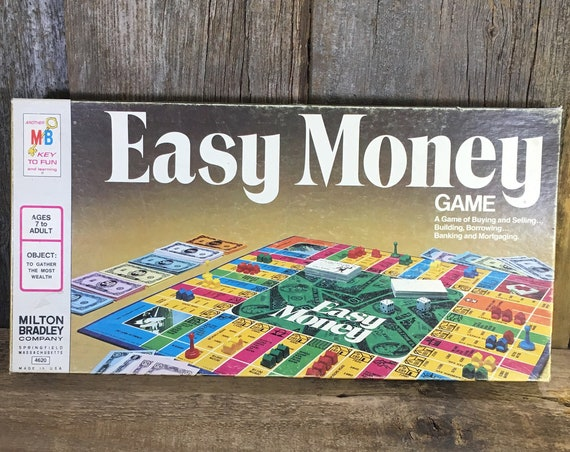 Vintage game of Easy Money from 1974, 1970's board game, Milton Bradley board game, vintage board game, 1974 board game, family game night