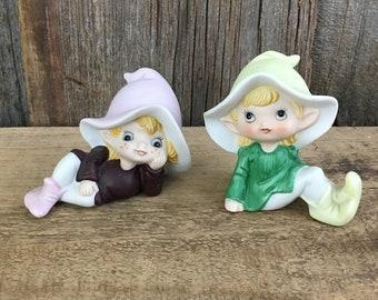 VINTAGE figurines-plates