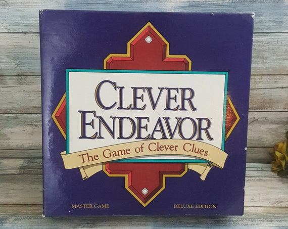 Clever Endeavor game, vintage game, the game of clever clues, Clever Endeavor 1989, family game night, 1989 Mind Games, family fun game