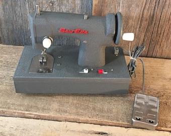 Vintage Sew Ette sewing machine, vintage childrens sewing machine, mid century kids sewing machine, Sewette sewing machine, vintage toys