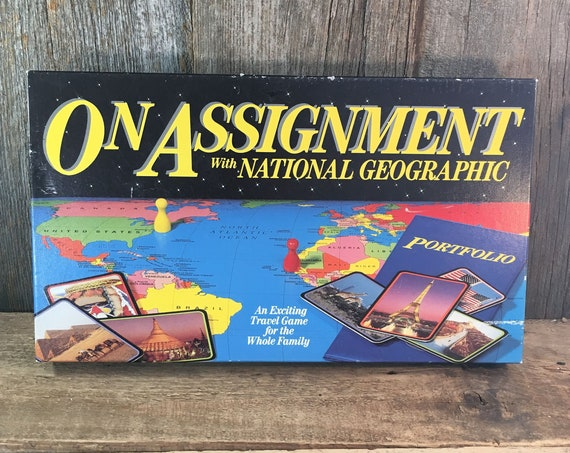 On Assignment with National Geographic game, vintage travel game, vintage National Geographic game, family game night game,National Geo game