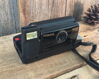 Vintage Polaroid Captiva camera, vintage camera decor, Polaroid Captiva SLRcamera, camera prop decor, vintage prop decor, 1990's camera prop
