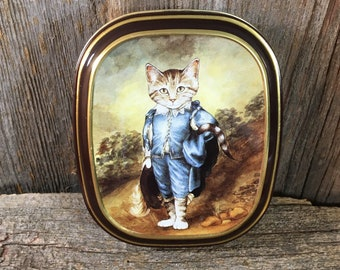 Bentley's of London The Cats Gallery Blue Boy tin, 1990 Thames & Hudson, vintage cat tin, cat collectible, cat lover, cat as Blue Boy art