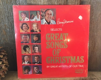 Unopened Henry Mancini Selects great song Christmas, vintage unopened record album, sealed Great songs of Christmas vinyl album, Christmas