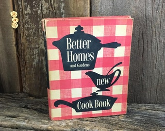 Vintage 1953 Better Homes and Gardens Cookbook, five ring spiral binder Better Homes cookbook, collectors cookbook,vintage cook book recipes