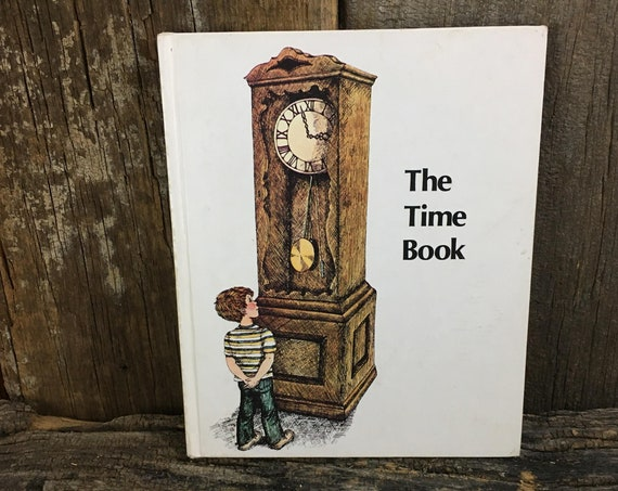 The Time Book Britannica Discovery Library, 1986 vintage Children's book, The Time Book, Britannica Discovery Library, learning time book