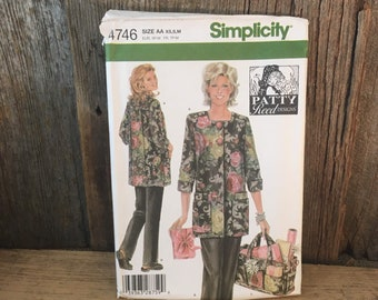 Simplicity 4746 uncut sewing pattern, Patty Reed designs sewing pattern, Simplicity 4746 from 2004, Simplicity 4746 size xs small and medium