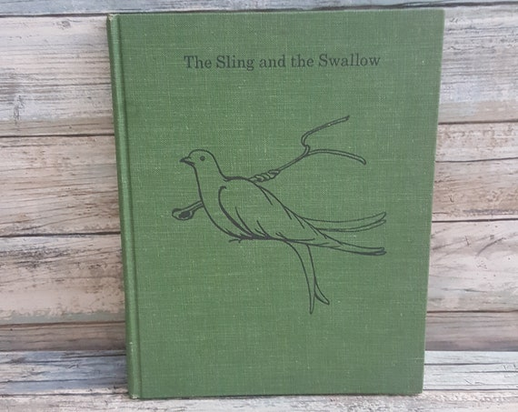 The Sling and the Swallow book 1963, Eleanor Hull book, United Church press book, Biblical passages book, biblical stories, vintage books