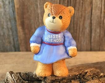 Vintage Lucy Rigg Best Friends bear, Enesco bear, 1986 collectible Lucy Rigg bear, best friend gift, valentines friend gift, Rigg bear