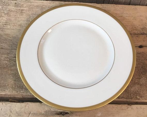 Franciscan China Wilshire Encanto Coupe salad/dessert plate, vintage Wilshire Franciscan China 1930's Franciscan salad or dessert plate
