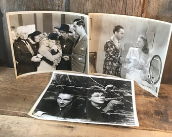 Vintage set of publicity photos, Hollywood movie stills, 1940's Hollywood, The hidden hand, Julie Bishop photo, Granny get your gun photo