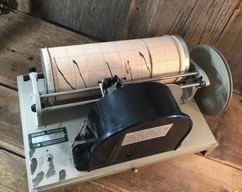 Stevens recorder model 68, Leupold and Stevens water recorder, vintage water recorder, vintage industrial decor, set design prop,movie prop